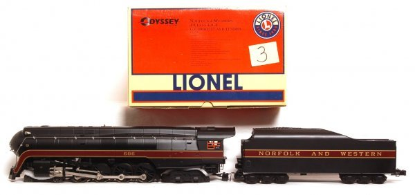 3: Lionel No. 38026 N and W J class loco in OB