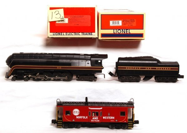 13: Lionel 18040 N and W 4-8-4 J class loco, caboose