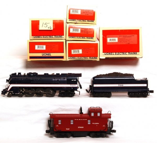 15: Lionel Wabash Hudson and five freight cars, 18046