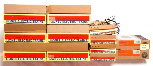 22: Six Lionel 072 switches, 5530, 22980 in OB
