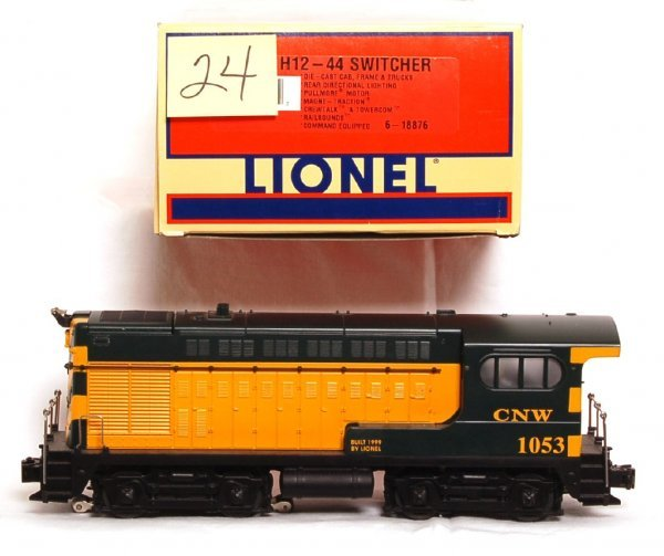 24: Lionel 18876 C and NW H12-44 switcher in OB