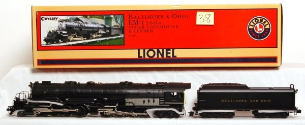 38: Lionel 28051 B and O EM-1 2-8-8-4 loco and tender
