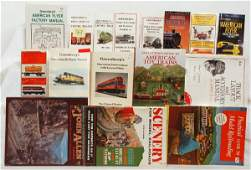 763 Large lot toy train books Greenbergs guides mor