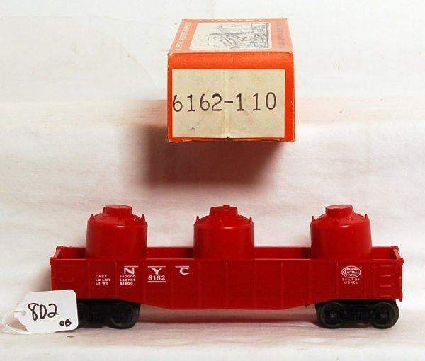 802: Mint red Lionel 6162-110 NYC gondola, OB