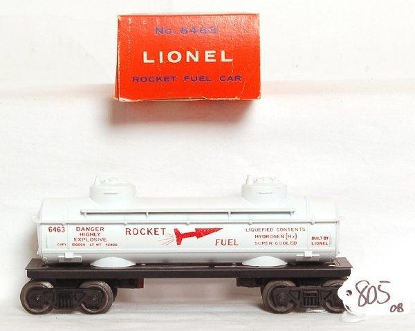805: Mint Lionel 6463 Rocket Fuel tank car, OB