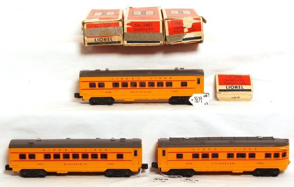 809: Nice Lionel 2481, 2482 and 2483 passengers, OB