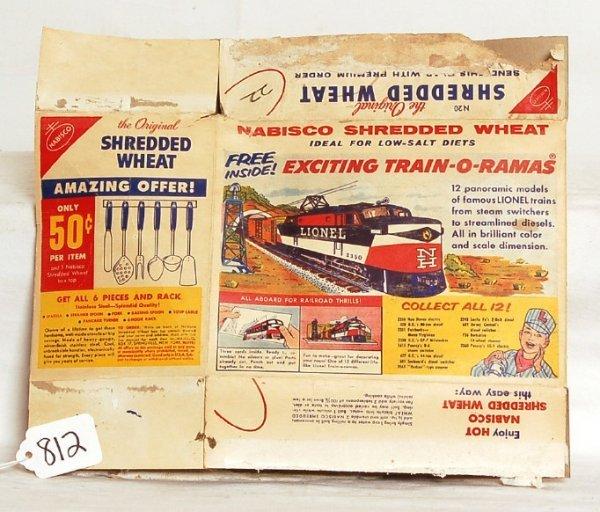 812: Unusual Lionel Shredded Wheat original box