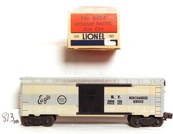 813: Lionel 6464-150 MP, tan and gray boxcar, OB