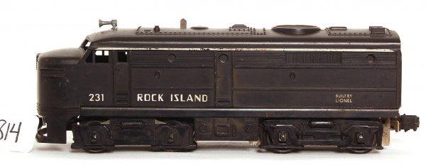814: Lionel 231 Rock Island Alco A unit, solid black