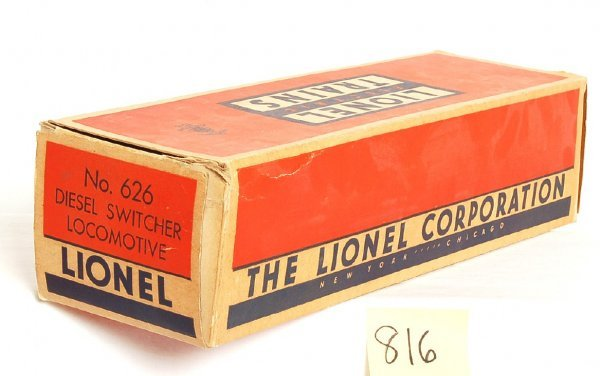 816: Lionel original box only for 626 Baltimore and Ohi