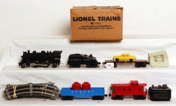 818: Lionel postwar boxed 1123C freight set