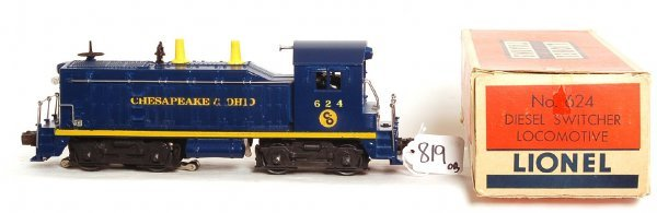 819: Lionel 624 Chesapeake and Ohio switcher, OB