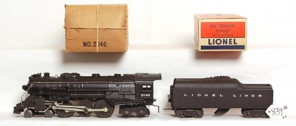 839: Unrun Lionel 2046 Hudson, 2046W tender, OB