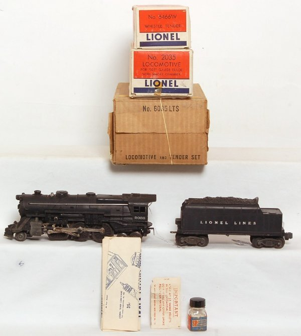 1031: Lionel 2035 steam with rare 6035LTS MS