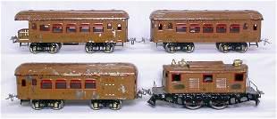 Ives WG brown passenger set 3236R 170 171 172