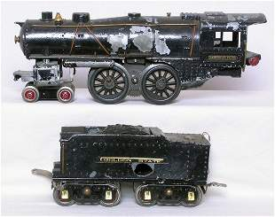 American Flyer Ives 4-4-2 loco, tender for parts
