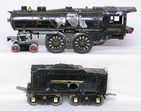 7: American Flyer Ives 4-4-2 loco, tender for parts