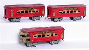 American Flyer O red 3176 3176 3172 cars