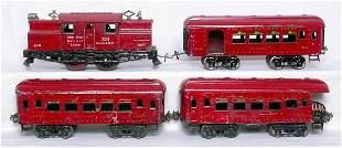 Ives WG dark red passenger set, 3241 184 185 186