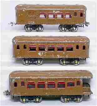 Ives WG light brown passenger cars 170 171 172