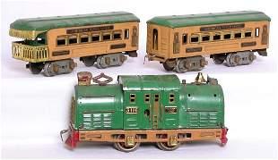American Flyer O set, 3116 loco, cars 3171 3172