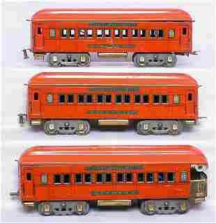 American Flyer WG orange/green coach, coach, obs
