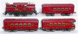Ives WG red passenger train, 3241R 184 185-3 186