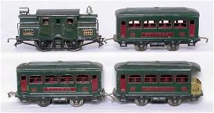 Lionel O green 700 loco, cars 629 629 630