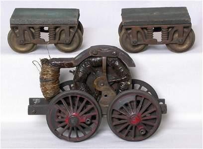 177: Carlisle and Finch? steam engine motor, trucks