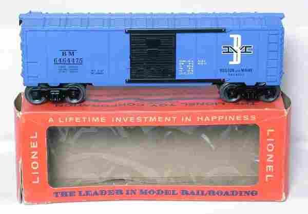 Mint Lionel purple 6464-475 B&M boxcar in box