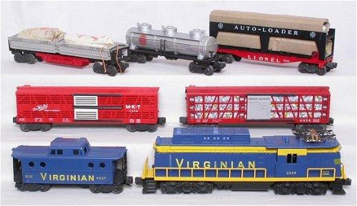 535: Mint Lionel 2329 Virginian boxed set 2513W