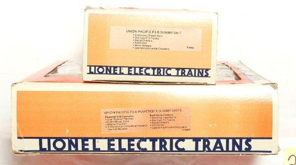 2002: Lionel 8480 & 8481 Union Pacific F3 A-B-A in OB