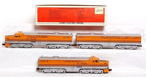 2005: Lionel 18107 Denver & Rio Grande PA-1 A-B-A in OB