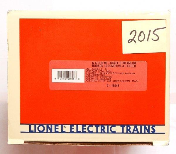2015: Lionel 18043 C&O semi-scale Hudson loco, tender