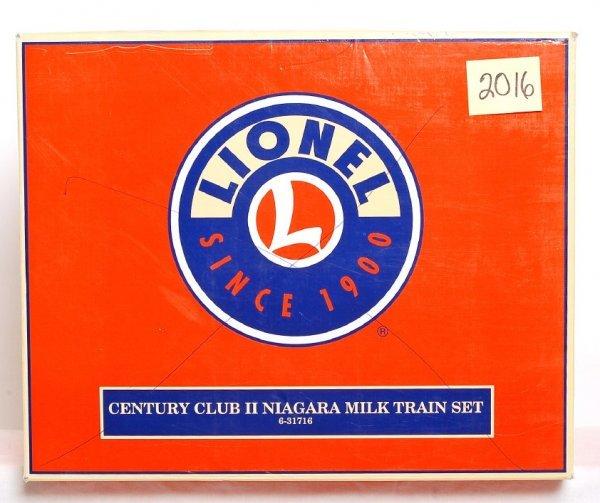 2016: Lionel 31716 CCII Niagara milk train set in OB