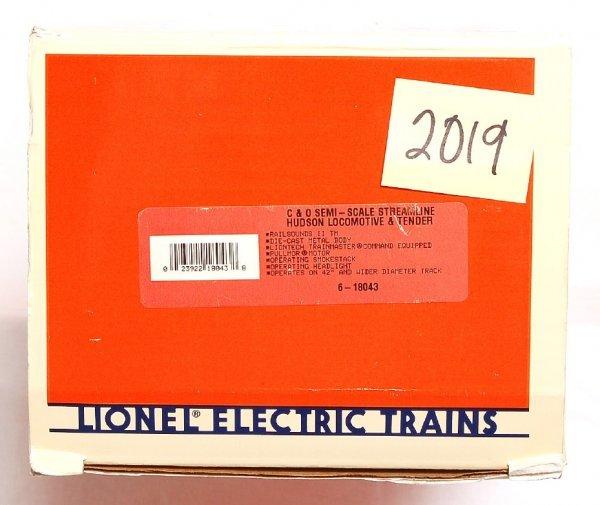 2019: Lionel 18043 C&O semi-scale Hudson loco, tender