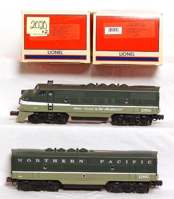 2020: Lionel 18145 & 18146 N.P. F-3 A-B units in OB