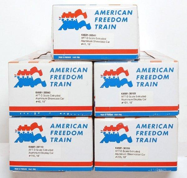2339: Five K-Line Freedom Train passenger cars in OB