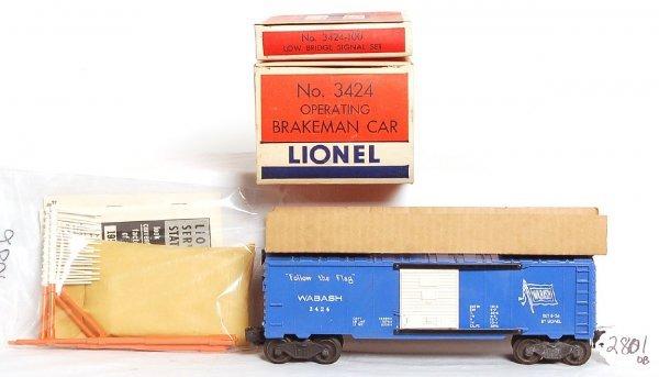 2801: Lionel 3424 operating Wabash boxcar, OB