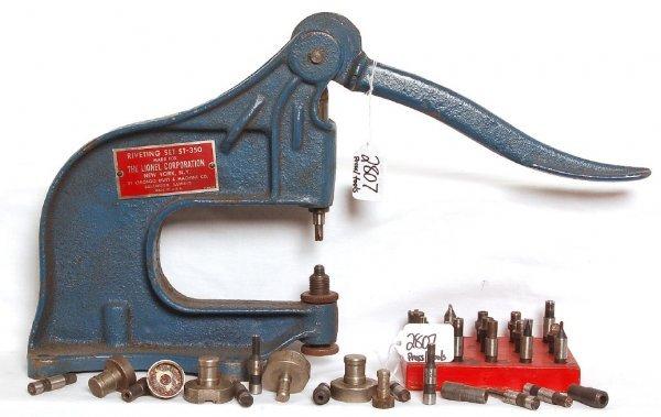 2807: Lionel ST350 dealer service station rivet press,