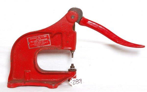 2809: Lionel ST350 dealer service station rivet press,