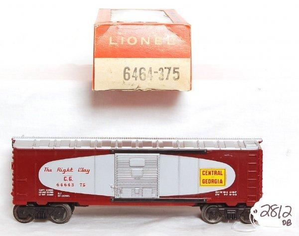 2812: Unrun Lionel 6464-375 Central of Georgia boxcar,