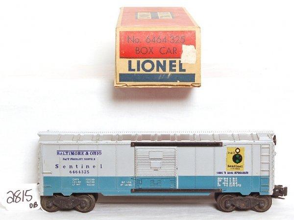 2815: Lionel 6464-325 Baltimore and Ohio Sentinel, OB