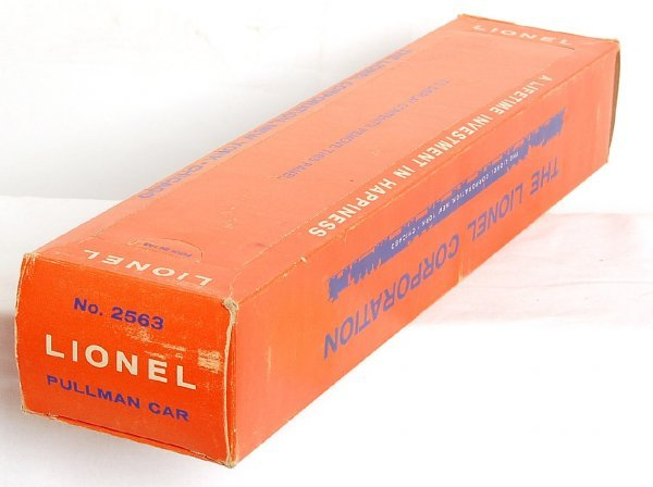 2816: Lionel original box only for 2563, SF Pullman