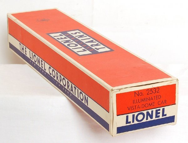 2817: Brick Lionel 2532 box only for dome car