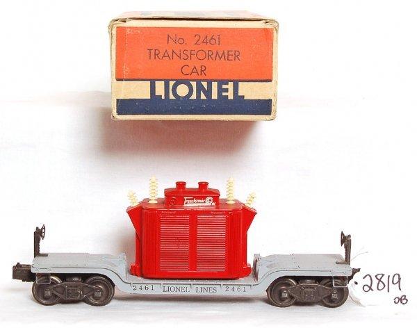 2819: Lionel 2461 red transformer car, OB