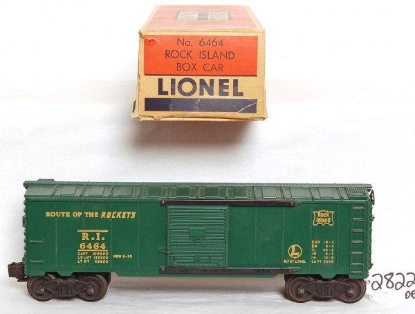 2822: Nice Lionel 6464-75 Rock Island boxcar, OB