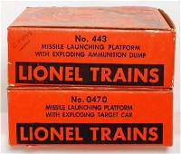 2998: Lionel 443 and 0470 in original boxes