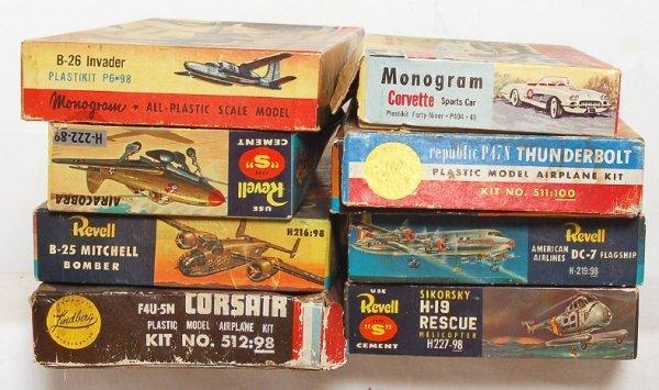 1: Eight Monogram, Revell, Lindberg model kits