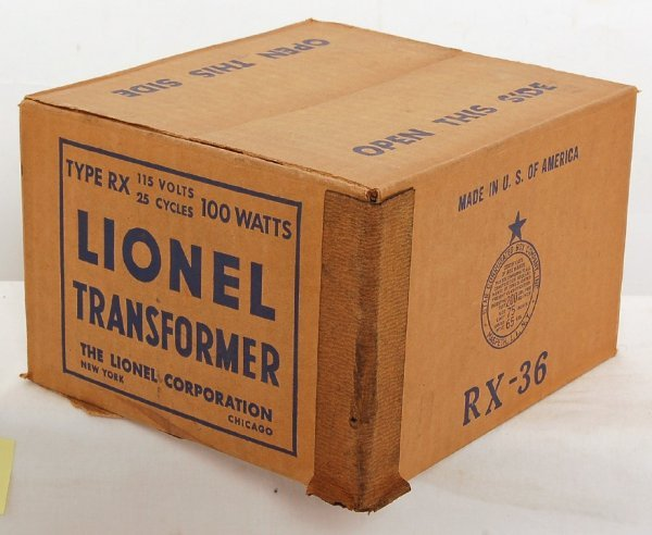 6: Lionel type RX 100 watts in factory sealed OB